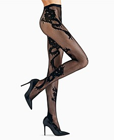 Women's Dragon Toss Net Tights Hosiery