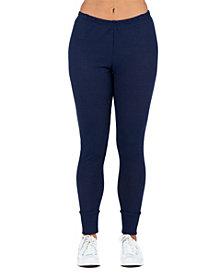 Women's Waffle Fabric Ankle Cuff Sweatpants