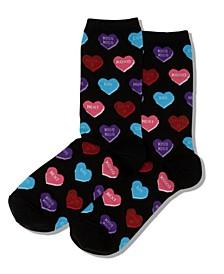 Women's Heart Candy Crew Socks
