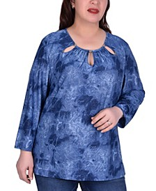 Women's Plus Size Long Sleeve Tunic