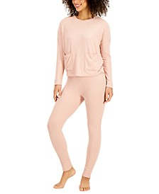 Ribbed Sleep Top & Pants, Created for Macy's