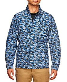 Men's Slim Fit Camo Print Field Jacket and a Free Face Mask