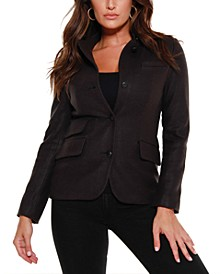 Black Label Utility Wool Blend Jacket