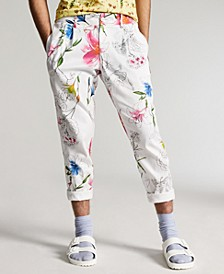 INC Men's Slim-Fit Floral Tapered Pants, Created for Macy's