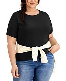 Plus Size Cotton Crewneck T-Shirt, Created for Macy's