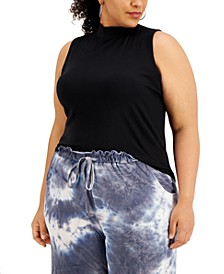 Trendy Plus Size Printed Sleeveless Top