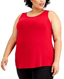 Plus Size Solid Swing Tank Top, Created for Macy's