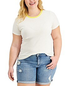 Petite Ribbed T-Shirt, Created for Macy's