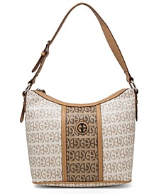 Contrast Stripe Signature Hobo, Created for Macy's