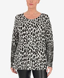 Plus Size Printed Animal Jumper