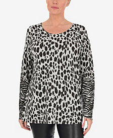 Live Unlimited Plus Size Printed Animal Jumper