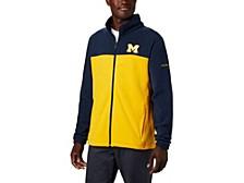 Michigan Wolverines Men's Flanker Jacket III Fleece Full Zip Jacket