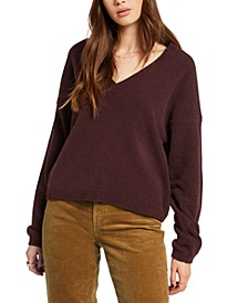 Juniors' V-Neck Sweater