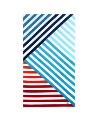 Wave Cotton Colorblocked Stripe Beach Towel