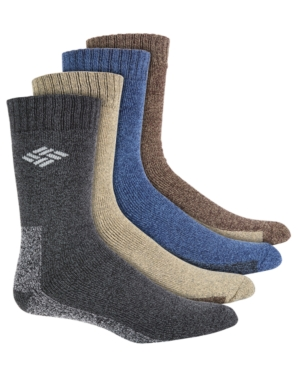 Men's 4-Pack Solid-Colored Moisture-Control Boot Socks