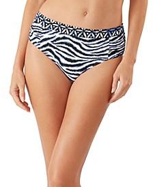 Zebra High-Waist Bikini Bottoms