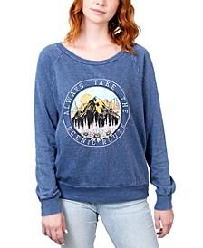 Juniors' Always Take The Scenic Route Graphic Sweatshirt