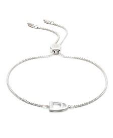 Sterling Silver Stirrup Slider Bracelet