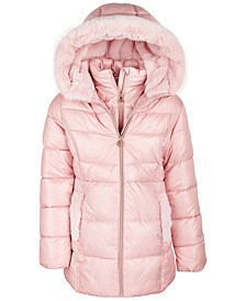Toddler Girls' Stadium Puffer Jacket With Faux-Fur Trim