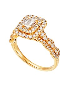 Diamond Engagement Ring (1 ct. t.w.) in 14K Yellow Gold