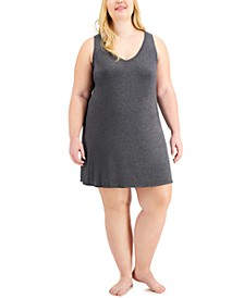 Plus Size V-Neck Chemise Nightgown, Created for Macy's