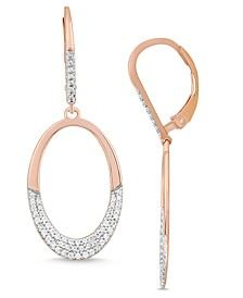 Diamond Dangle Earrings (1/2 ct. t.w.) in 14K Rose Gold