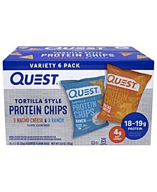 Tortilla Style Protein Chips Variety Pack, 1.1 oz, 6 Count