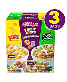 Assorted Cereal Variety Pack, 3 Count