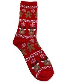 Gingerbread & Reindeer Socks, Created for Macy's