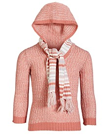 Girls Hooded Sweater & Matching Scarf