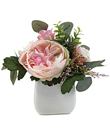 Valentine's Day Ombré Rose Artificial Potted Centerpiece, Created for Macy's