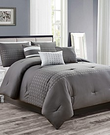 CLOSEOUT! Karlina 7-Pc. Queen Comforter Set