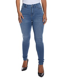 Juniors' Curvy-Fit High-Rise Skinny Jeans