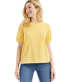 Textured Volume Sleeve Top, Created for Macy's