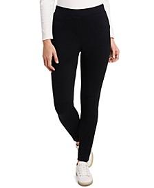 Eden Twill Ponté-Knit Slim Leggings, Created for Macy's