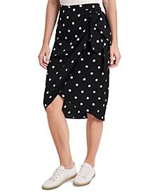 Ami Dot-Print Skirt, Created for Macy's