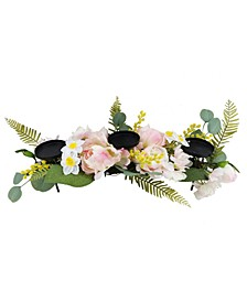 Artificial Peony Candle Holder Centerpiece, Created for Macy's