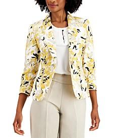 Petite Floral-Print Jacket