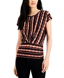 INC Petite Pleat-Front Boxy T-Shirt, Created for Macy's