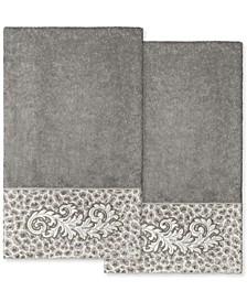 Textiles April Embellished Bath Towel Set, 2 Piece