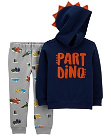 Toddler Boys Part Dino Pullover and Jogger Set, 2 Piece
