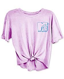 Trendy Plus Size MTV Tie-Front T-Shirt