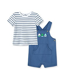 Baby Boys Boats Shortall Set