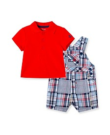 Baby Boys Patchwork Shortall Set