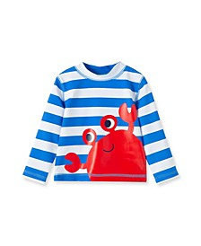 Baby Boys Crab Long Sleeve Rashguard