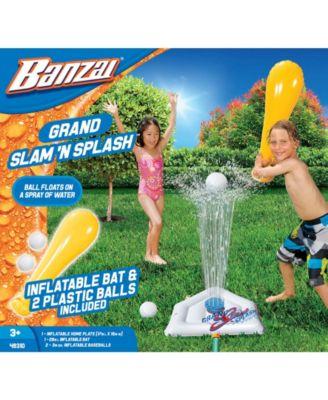 Banzai Grand Slam N Splash Sprinkler Baseball Game with Inflatable Bat and Ball