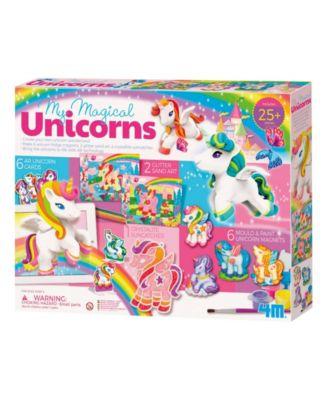 4M My Magical Unicorns Diy Magnets, Sand Art, Sun Catcher Craft Kit
