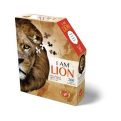 Madd Capp Games - I Am Lion - 300 Pieces - Animal Shaped Jigsaw Puzzle