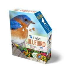 Madd Capp Games - I Am Bluebird - 300 Pieces - Animal Shaped Jigsaw Puzzle