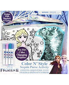 2 Color N Style Purse with Gem Stickers and Permanent Markers